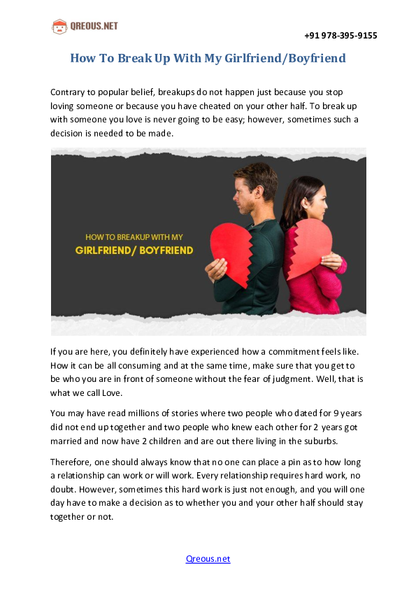PDF) How To Break Up With My Girlfriend/Boyfriend | Qreous
