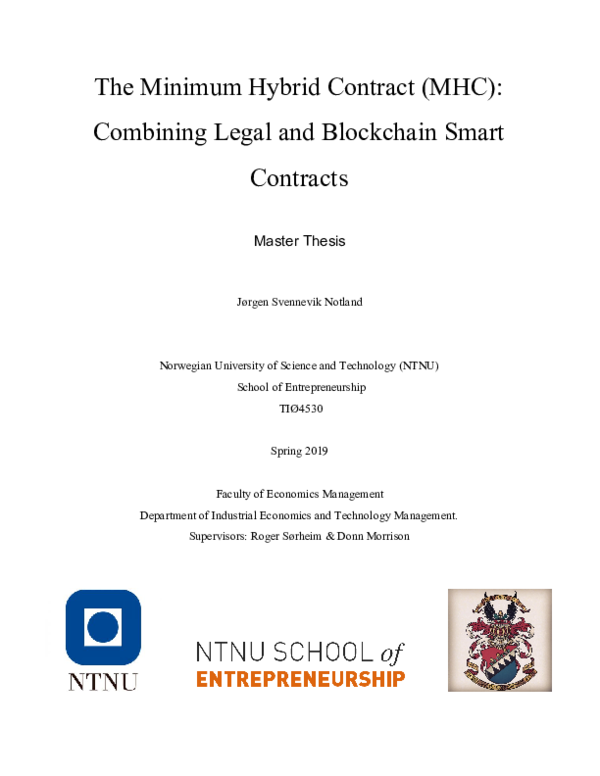 PDF) The Minimum Hybrid Contract (MHC): Combining Legal and