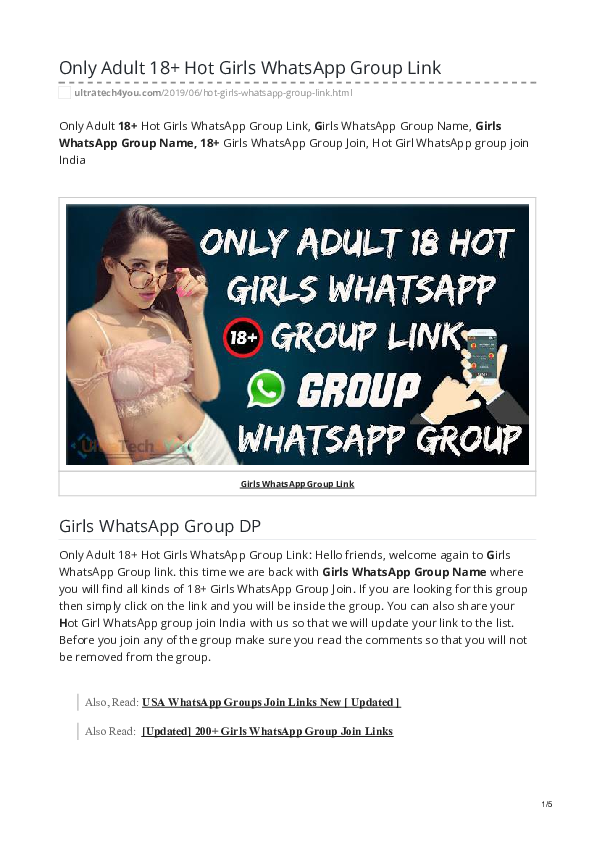 PDF) [ Updated ] 1000+ Hot Sexy WhatsApp Group Invite Links