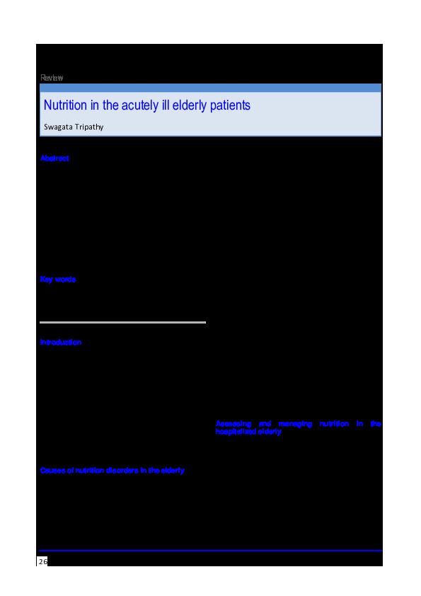 acutely ill elderly patients