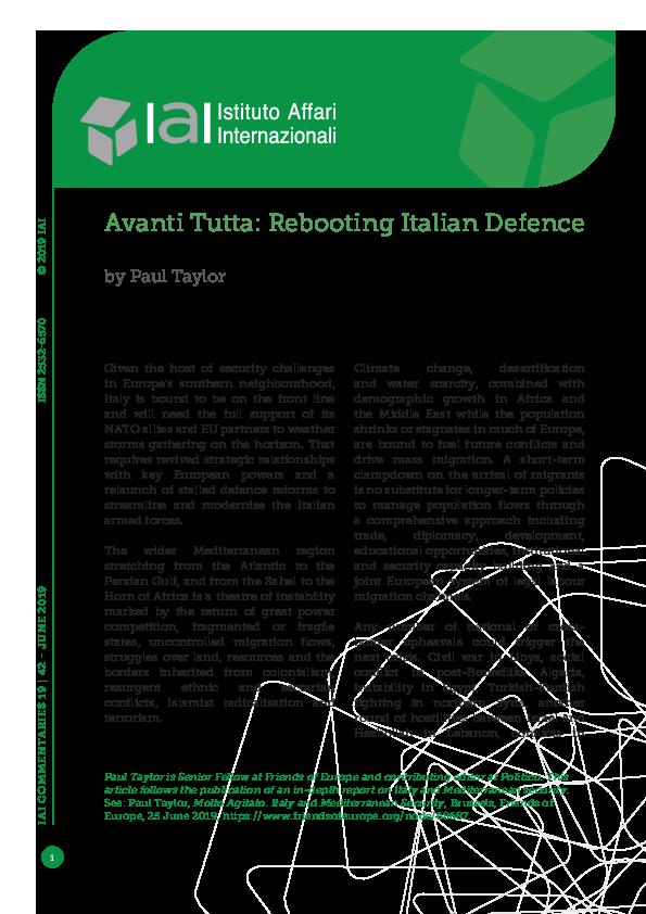 PDF) Avanti Tutta: Rebooting Italian Defence | Istituto Affari
