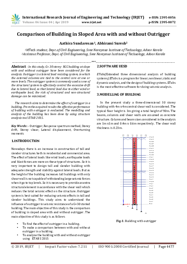 PDF) IRJET- Comparison of Building in Sloped Area with and