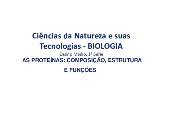 As Proteinas Composicao Estrutura E Funcoes 120190703 36586