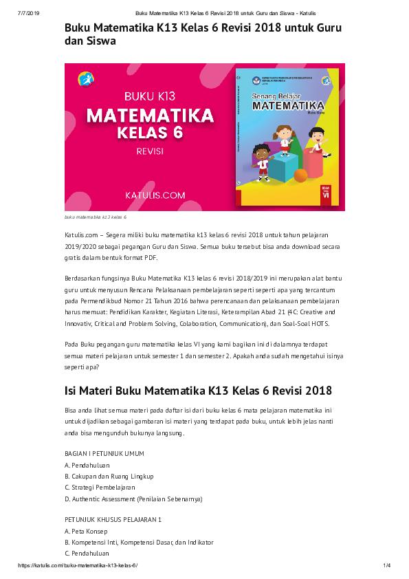 Get Download Buku Matematika Kelas 6 Pictures