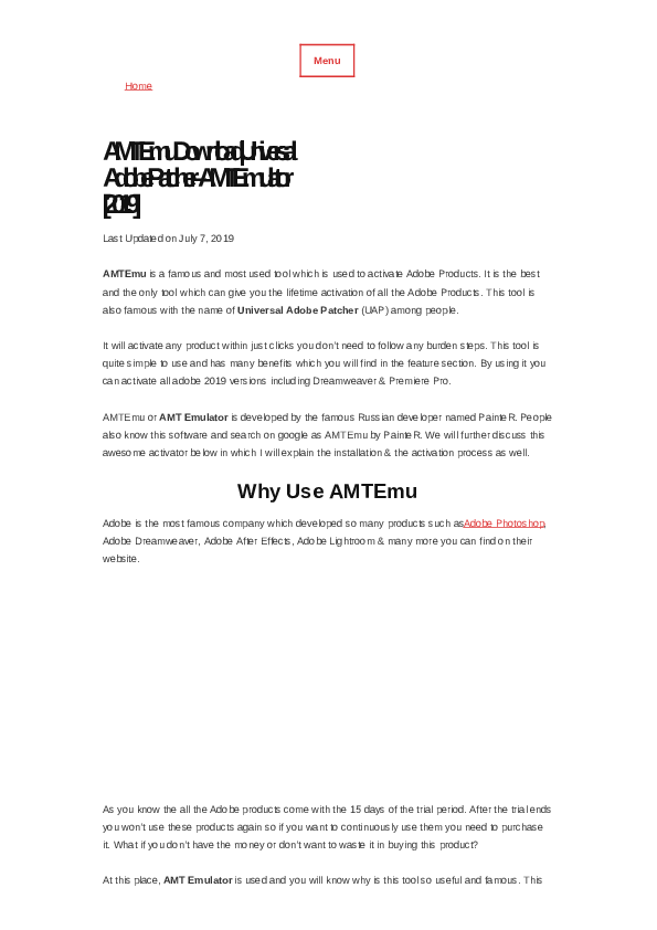 PDF) AMTEmu - Universal Adobe Patcher – AMT Emulator [2019