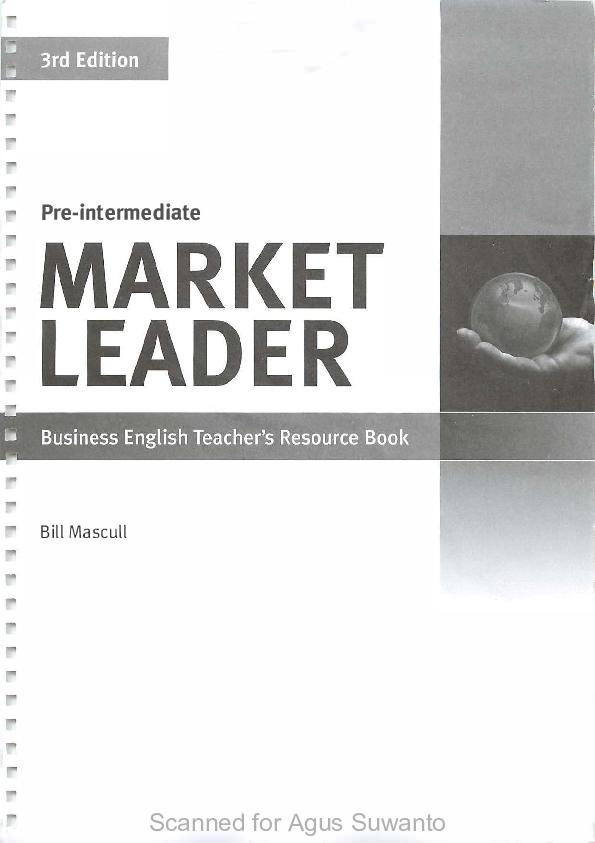 Pdf Market Leader Pre Intermediate Teachers Resource Book3rd Edition Aldo Moca Academia Edu