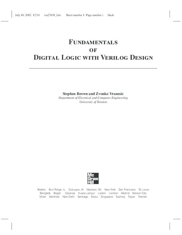 Pdf Fundamentals Of Digital Logic With Verilog Design Duy Phan Academia Edu