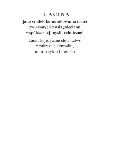Pdf łacina Jako środek Komunikowania Treści Związanych Z