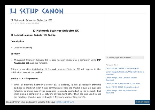 PDF) IJ Network Scanner Selector EX | go fkash - Academia edu