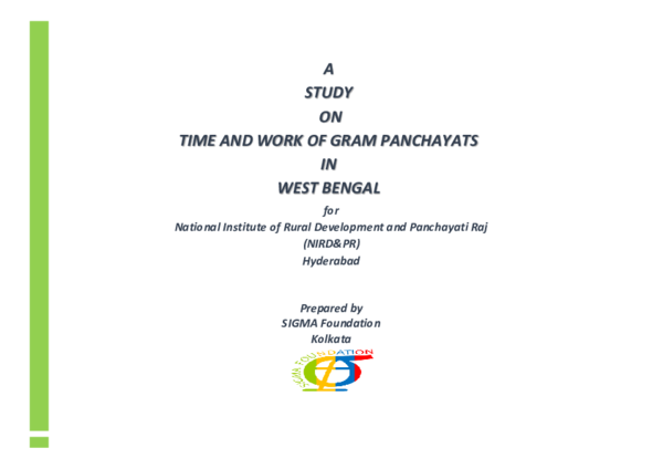 PDF) Time and Work Study on West Bengal Gram Panchayats