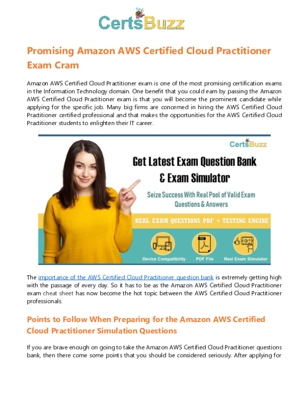 PDF) Ace Your AWS-Certified-Cloud-Practitioner Exam with
