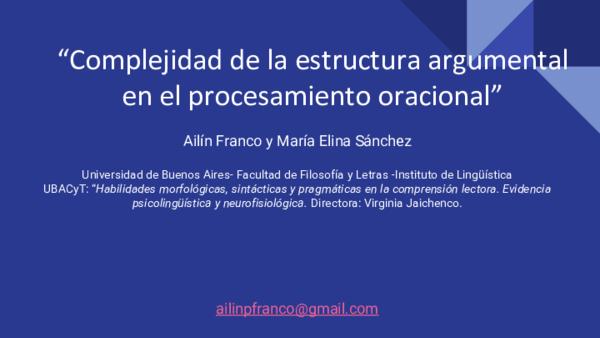 Pdf Complejidad De La Estructura Argumental En El
