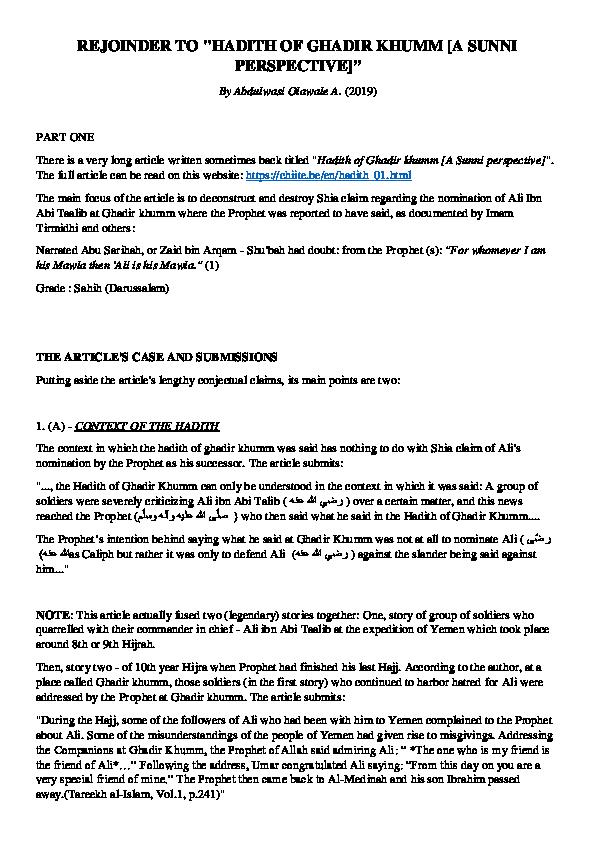 PDF) REJOINDER TO