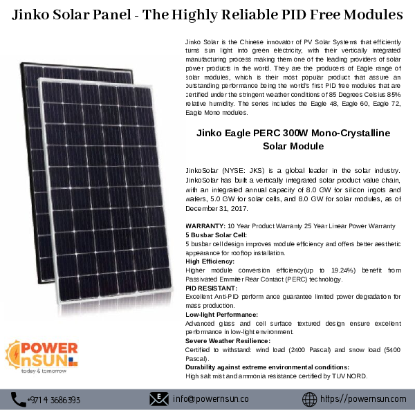 PDF) Jinko Solar Panel -The Highly Reliable PID Free Modules | LK