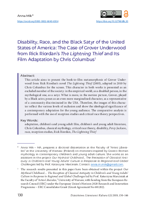 Pdf Disability Race And The Black Satyr Of The United