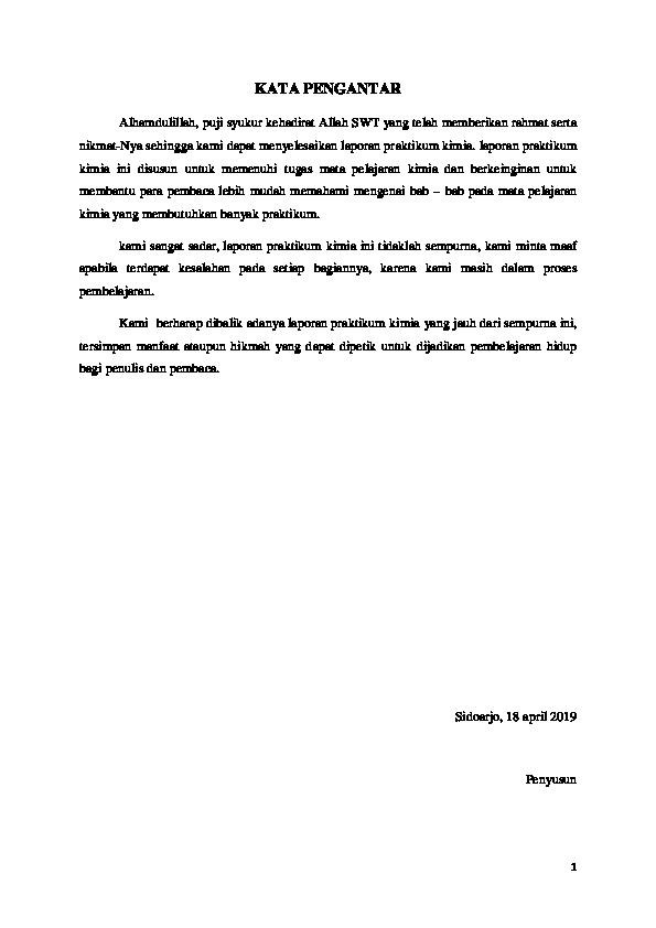 Doc Laporan Praktikum Kimia Kelas 11 Titrasi Asam Basa Pengenceran Campuran Konsentrasi Ph Indikator Kertas Lakmus Calum T H O M A S Hemmings Academia Edu