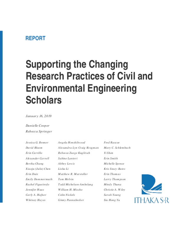 PDF) Supporting the Changing Research Practices of Civil and