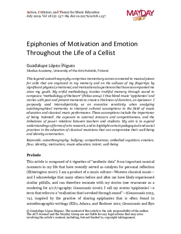 PDF) Epiphonies of motivation and emotion throughout the life of a