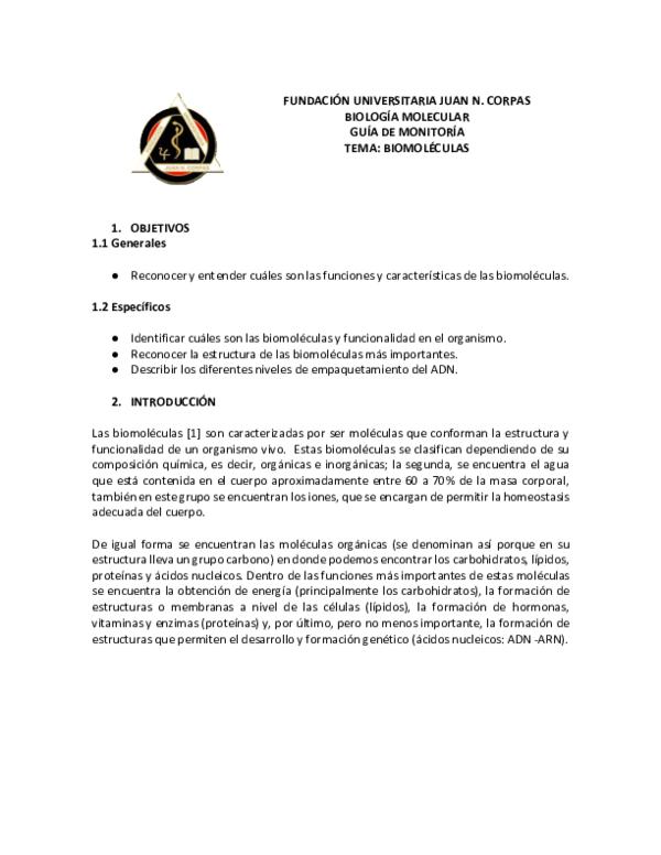 Doc Fundación Universitaria Juan N Corpas Biología