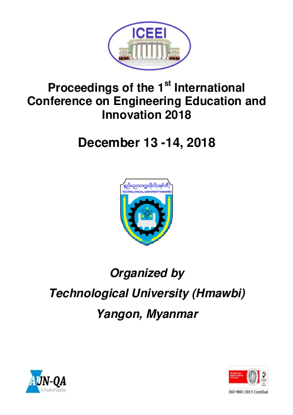 PDF) Proceedings of ICEEI 2018 | Hkyeng Seng Naw Awng and
