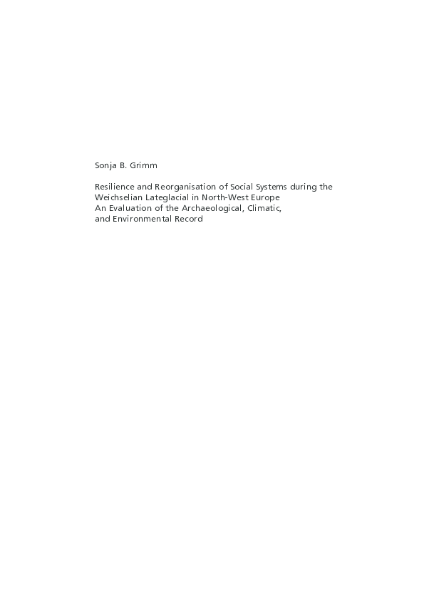 Pdf Resilience And Reorganisation Of Social Systems During