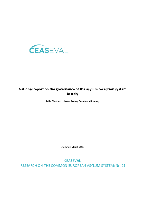 PDF) National report on the governance of the asylum