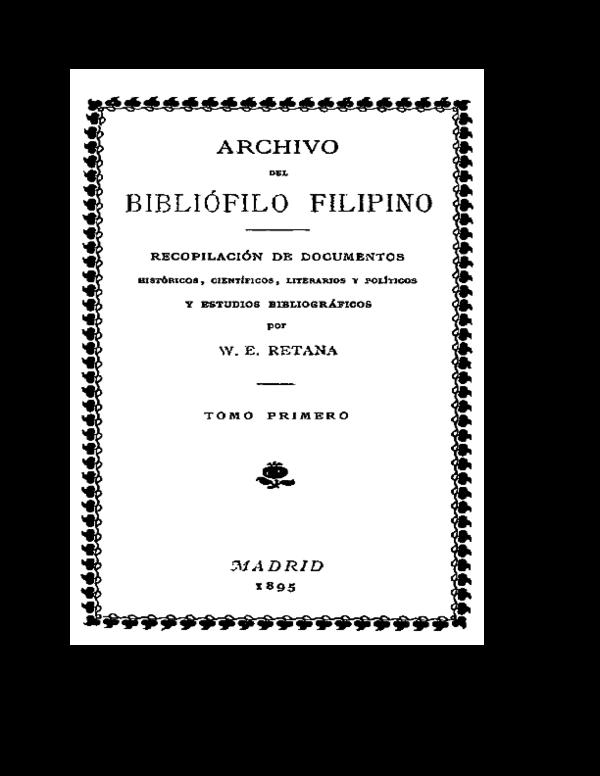 """PDF ARCHIVO DEL BIBLI""""FILO FILIPINO Vol 1 by Wenceslao E"""