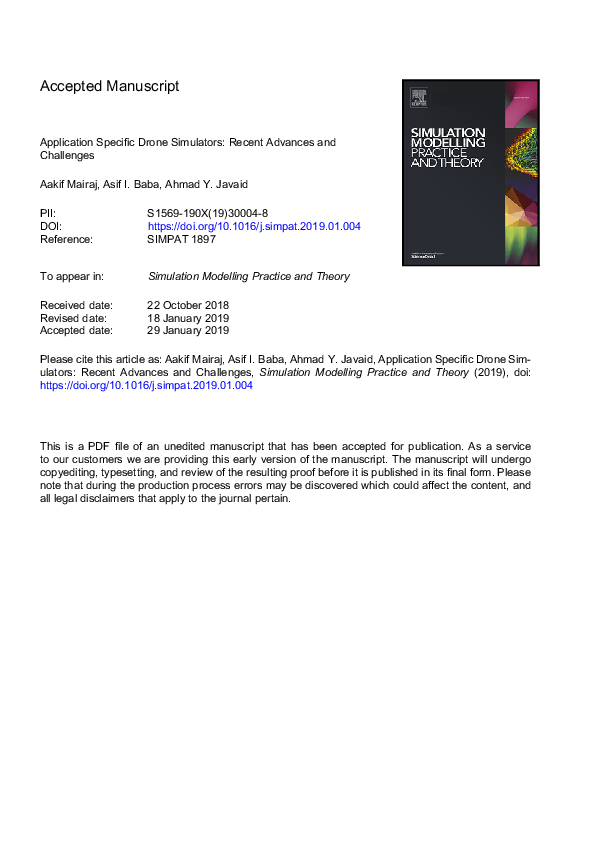 PDF) Accepted Manuscript Application Specific Drone