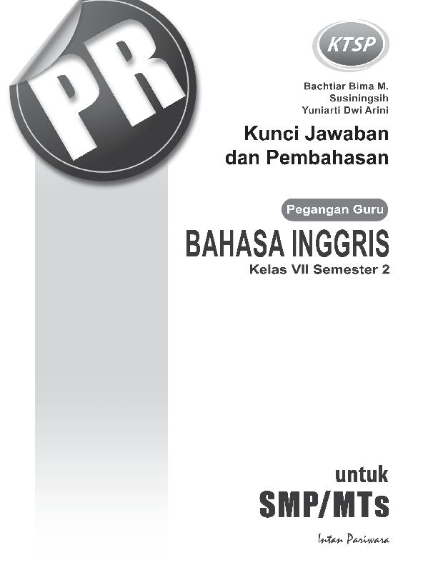 Pdf Kunci Jawaban Pr Inggris 7b 2015 Ktsp Luluatul