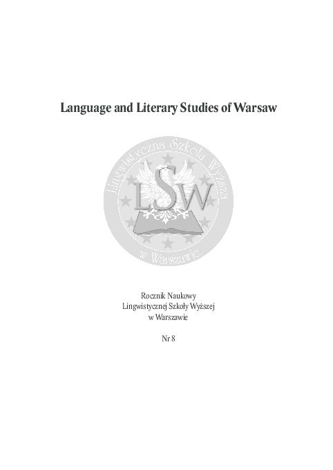 Pdf Language And Literary Studies Of Warsaw Vol 8