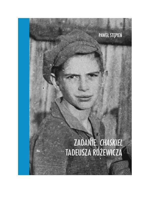 Pdf Zadanie Chaskiel Tadeusza Różewicza Paweł Stępień