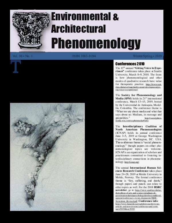PDF) ENVIRONMENTAL & ARCHITECTURAL PHENOMENOLOGY, vol  30