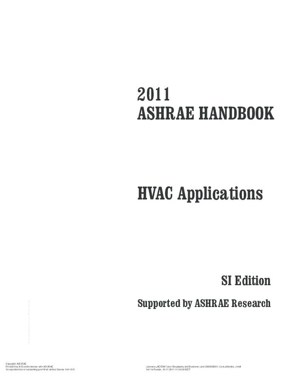 Pdf 2011 Ashrae Handbook Hvac Applications Si Edition Supported By Ashrae Research Renato Fernandes Academia Edu