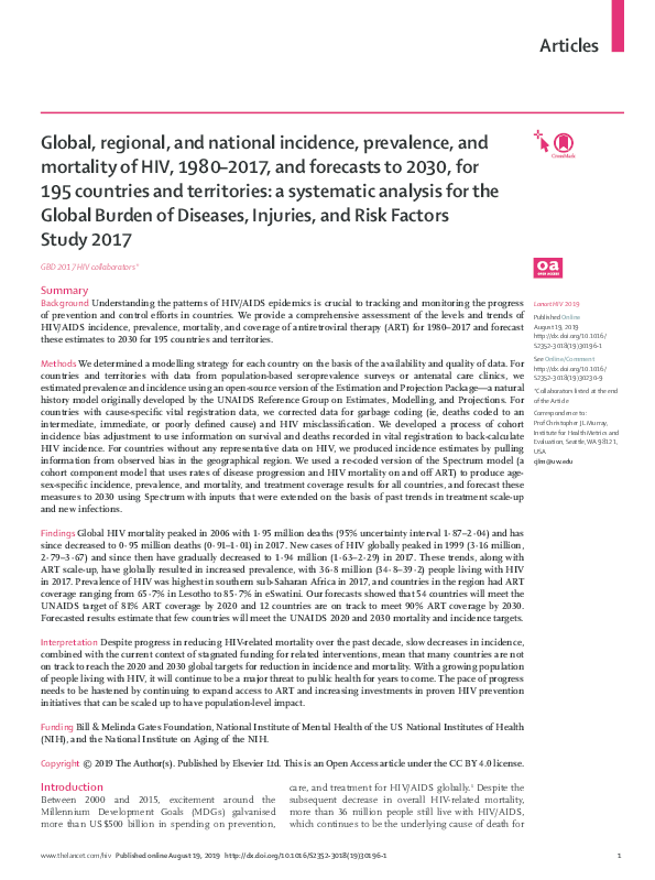 PDF) Global, regional, and national incidence, prevalence