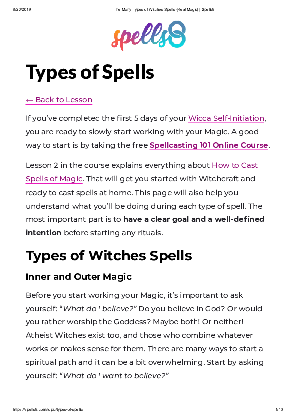 PDF) Types of Spells | Spells8 com - Academia edu