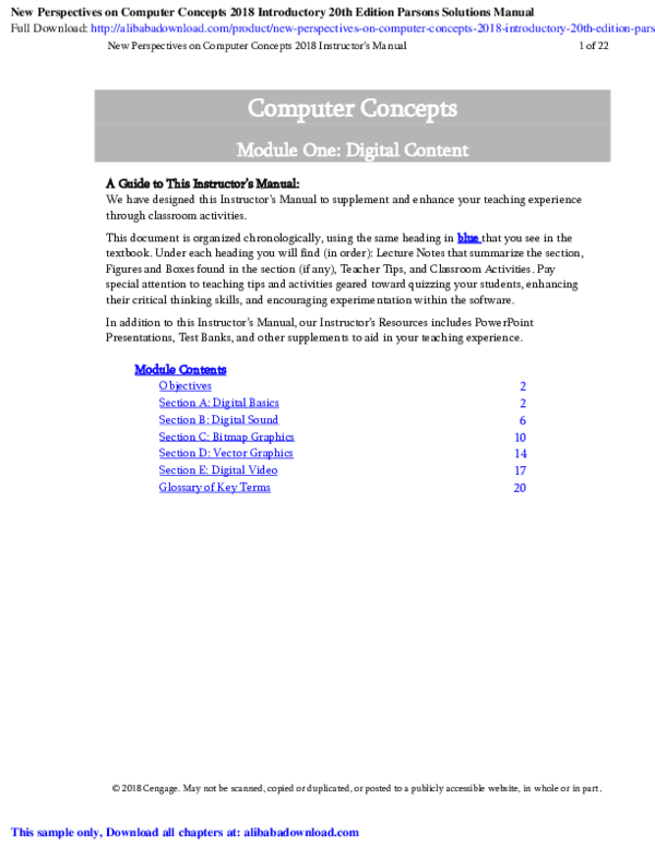 PDF) New Perspectives on Computer Concepts 2018 Introductory