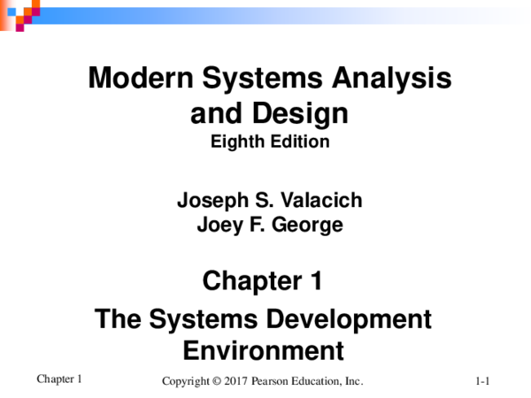 Pdf Chapter 1 The Systems Development Environment Modern Systems Analysis And Design Eighth Edition Lunique Jerome Academia Edu