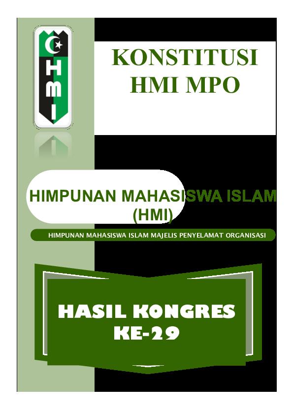 Pdf Himpunan Mahasiswa Islam Majelis Penyelamat Organisasi