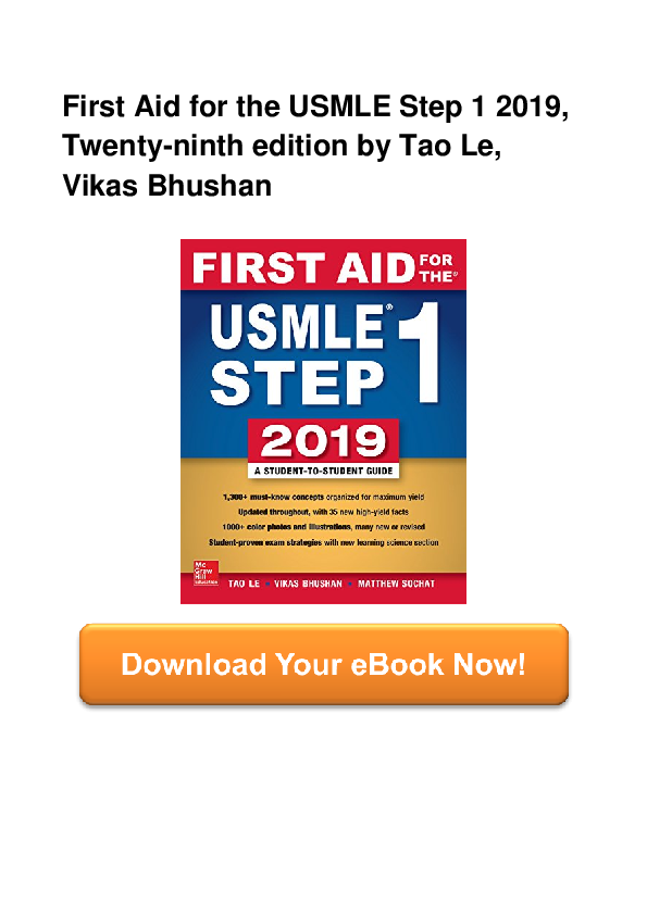 PDF) First Aid For The USMLE Step 1 2019 Twenty ninth