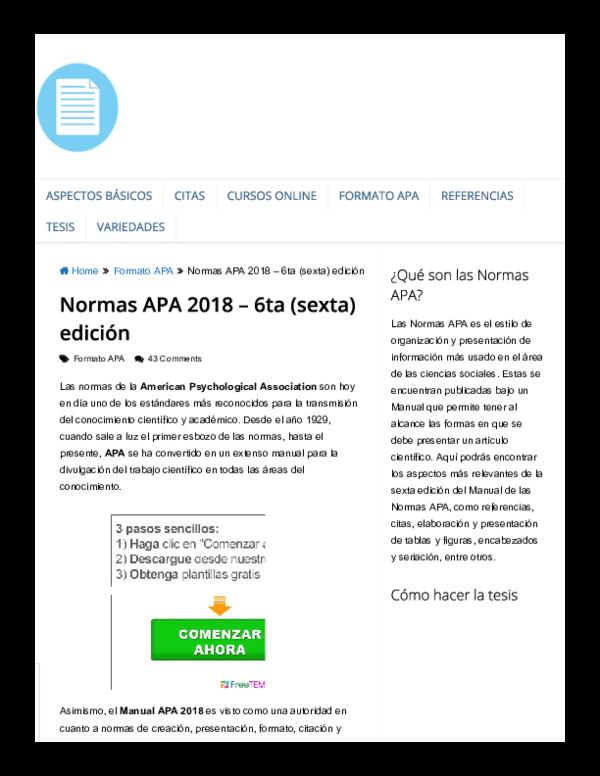 Pdf Apa 6ta Edicion Juan Zavala Academia Edu