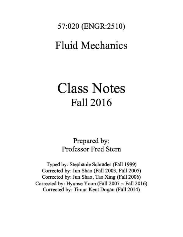 PDF) Chapter 1 fluid mechanics | Casper Noah - Academia edu