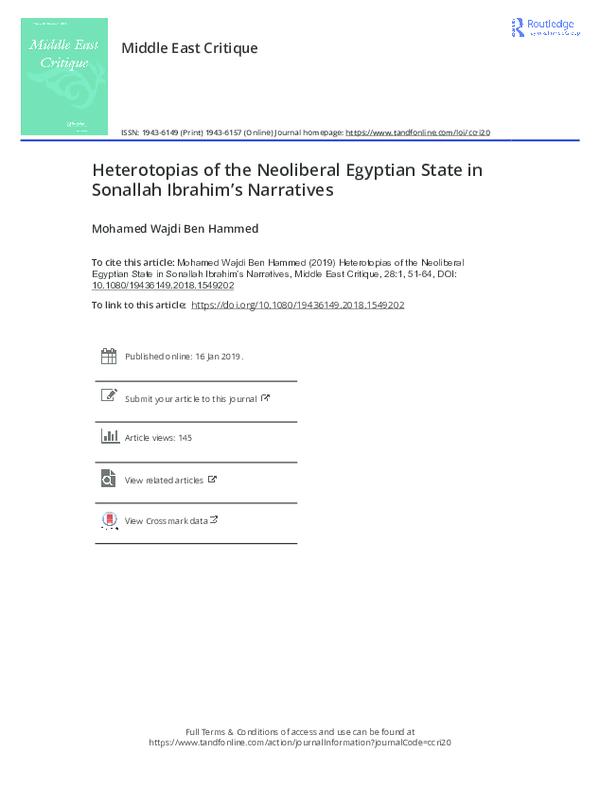 PDF) Heterotopias of the Neoliberal Egyptian State in