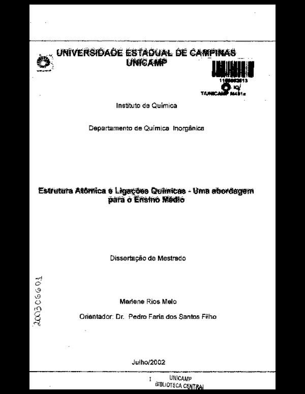 Pdf Estrutura Atômica E Ligações Químicas Qualidade