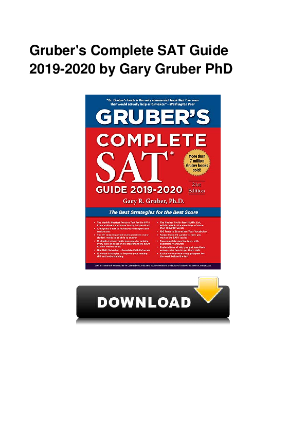 Grubers Complete SAT Guide 2019-2020
