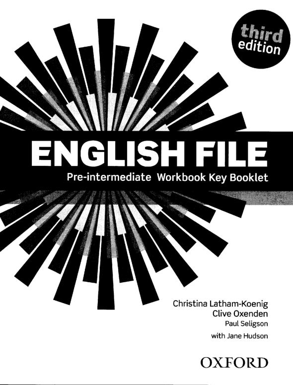 Pdf English File Pre Intermediate Workbook Key Booklet оля панцырева Academia Edu