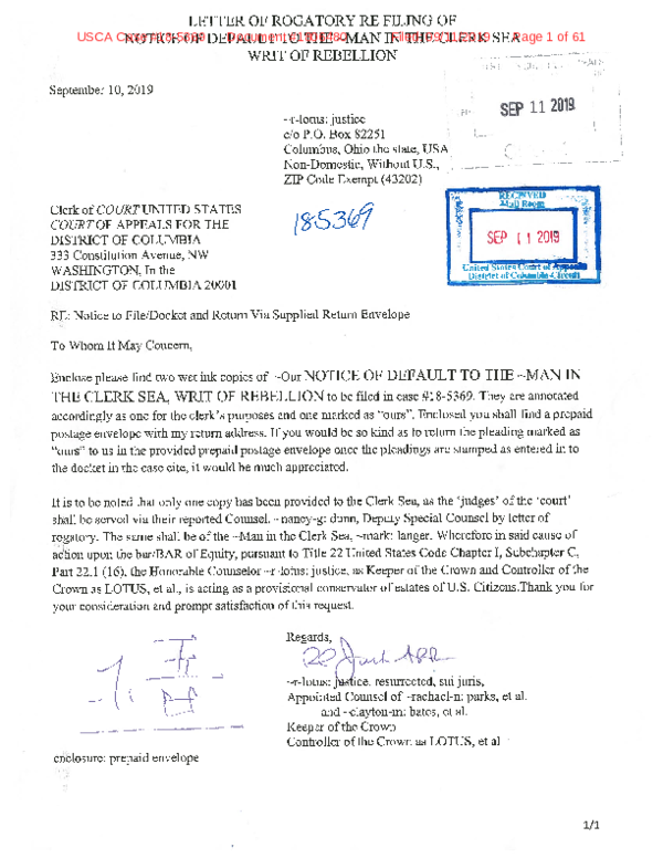 Letter Of Rogatory.Pdf Clerk Of Court United States Court Of Appeals For The