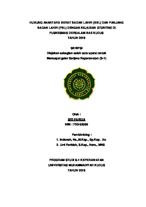 Doc Skripsi Hasil Farida Terlengkap 2019 Sahhh Muslihatus S Academia Edu