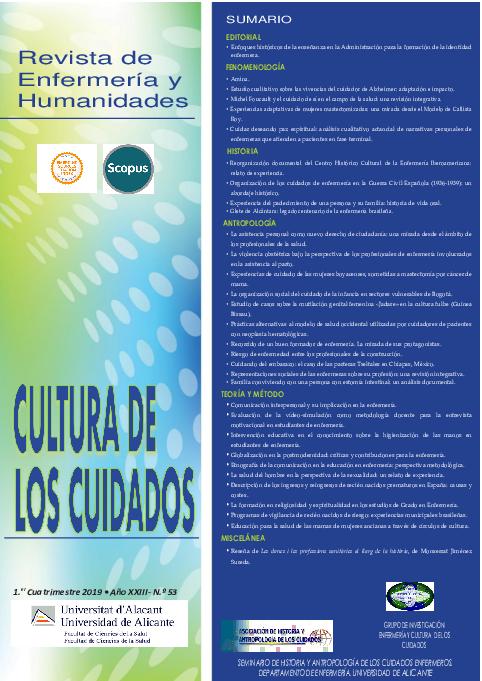 Pdf Revista De Enfermería Y Humanidades Sumario Cultura