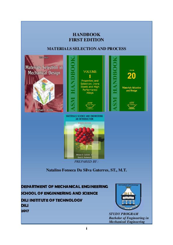Pdf Materials Selection And Process Natalino Fonseca And Natalino Fonseca Academia Edu