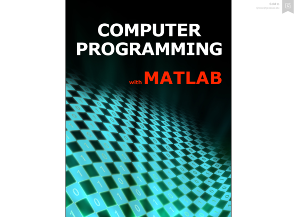 computer programming with matlab fitzpatrick free pdf